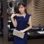 KTFN ชุดเดรสเข้ารูปดีไซส์เกาหลี เซ็กซี่เล็กๆ สีน้ำเงินกรม dark blue สีมืดกว่าในภาพค่ะ thumbnail 1