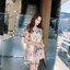 เดรสแฟชั่น ชุดเดรสปักเกาหลี+ซับใน ผ้าตาข่ายเยื้อนุ่มนิ่ม ปักลายดอกไม้สีชมพู thumbnail 3