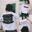 [พร้อมส่ง] เสื้อยืดขาว SAVE THE LIFE สามารถเปิดเสื้อข้างหน้าได้ ข้างในมีเสื้ออีกชั้น ด้านหลังมีแถบผ้าดำคาด thumbnail 1