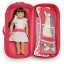 z 2 of Badger Basket Doll Travel Case with Bed and Bedding - Pink thumbnail 1