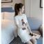 เดรสแฟชั่นผ้าคอตตอน พิมพ์ลายการ์ตูนผู้หญิงแฟชั่น สีขาว thumbnail 2