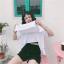 [พร้อมส่ง] เสื้อยืดขาว SAVE THE LIFE สามารถเปิดเสื้อข้างหน้าได้ ข้างในมีเสื้ออีกชั้น ด้านหลังมีแถบผ้าดำคาด thumbnail 7