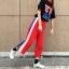 [Preorder] กางเกงขายาวมีซิปผ่าเปิดข้างโชว์ขา มีสีดำ/แดง thumbnail 13