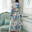 เดรสแฟชั่น Dress ลายน่ารัก สีหวาน แขนยาว คอปก thumbnail 6