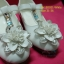 15D921 White รองเท้าเด็กผู้หญิง หนังแก้วสีขาว ส้นสูงปานกลาง ใส่ไป งานแต่งงาน งานเลี้ยง ไซส์31-36 thumbnail 3