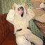 [พร้อมส่ง] ชุดนอนเสื้อขนสัตว์มีฮูดหมี+กางเกง มีสีน้ำตาล/ครีม thumbnail 16