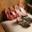 รองเท้าแฟชั่นเด็กสีแดงหมุดทอง thumbnail 9