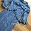 เดรสแฟชั่น เดรสผ้าลูกไม้สีฟ้าอมเทาทรงคอสูงตกแต่งระบาย thumbnail 14