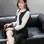 KTFN ชุดเดรสแฟชั่นเกาหลีน่ารัก คอแต่งโบว์ กระโปรงเข้ารูปตัดต่อระบายชาย สีดำ thumbnail 8