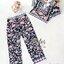 ชุดเซทแฟชั่น เซ็ตเสื้อ+กางเกงใส่เข้าชุดกัน เนื้อผ้า polyester+silk พิมพ์ลายดอกไม้สวยทั้งตัว thumbnail 8
