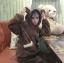 [พร้อมส่ง] ชุดนอนเสื้อขนสัตว์มีฮูดหมี+กางเกง มีสีน้ำตาล/ครีม thumbnail 2