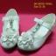 15D921 White รองเท้าเด็กผู้หญิง หนังแก้วสีขาว ส้นสูงปานกลาง ใส่ไป งานแต่งงาน งานเลี้ยง ไซส์31-36 thumbnail 1