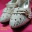 16A111-B1 Beige รองเท้าเด็กผู้หญิง สีเบจ ใส่ไปงานแต่ง งานเลี้ยง ไซส์26-30 thumbnail 4