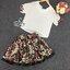 ชุดเซทแฟชั่น ชุดเซ็ทเสื้อ+กระโปรงสั้นทรงบาน เนื้อผ้าพิมพ์ลายดอกไม้สีแดงสวย thumbnail 6