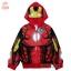 """"""" S-M-L-XL """" เสื้อแจ็คเก็ต The Avengers - Iron Man เสื้อกันหนาว เด็กผู้ชาย สีแดง รูดซิป มีหมวก(ฮู้ด) ใส่คลุมกันหนาว กันแดด สุดเท่ห์ ใส่สบาย ลิขสิทธิ์แท้ (ไซส์ S-M-L-XL ) thumbnail 7"""