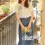 ชุดเซทแฟชั่น งานเซ็ทสวยเก๋ลุคสาววินเทจ ดีเทลเสื้อเนื้อผ้าคอตตอล thumbnail 8