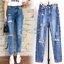 กางเกงแฟชั่น กางเกงยีนส์ทรงบอยเฟรน รุ่นใหม่ล่าสุด ทรงเอวสูง ฟอกสีสวย thumbnail 10