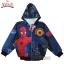 """ฮ """" S-M-L-XL """" เสื้อแจ็คเก็ต Spiderman เสื้อกันหนาว เด็กผู้ชาย สีน้ำเงิน รูดซิป มีหมวก(ฮู้ด) ใส่คลุมกันหนาว กันแดด สุดเท่ห์ ใส่สบาย ลิขสิทธิ์แท้ (ไซส์ S-M-L-XL ) thumbnail 4"""