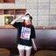 [พร้อมส่ง] เสื้อแขนสั้นมีฮูดแดงสไตล์เกาหลี มีสีขาว thumbnail 7