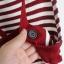 เอี๊ยมกระโปรงสายบ่า ผ้าคอตตอนยืดหยุ่น สีขาวแดง thumbnail 3