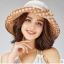 Pre-order หมวกผ้าไหมแท้ติดโบว์ดอกไม้แฟชั่นฤดูร้อน กันแดด กันแสงยูวี สวยหวาน สีน้ำตาล thumbnail 3