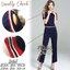 ชุดเซทแฟชั่น เซ็ตเสื้อ+กางเกง เนื้อผ้ายืด cotton ใส่สบาย thumbnail 8