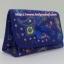 กระเป๋าเครื่องสำอางค์ นารายา ผ้าคอตตอน สีน้ำเงิน ลายหยดน้ำ มีกระจกในตัว Size L (กระเป๋านารายา กระเป๋าผ้า NaRaYa) thumbnail 1