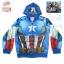 ( S-M-L-XL ) เสื้อแจ็คเก็ต เสื้อกันหนาว เด็กผู้ชาย The Avengers - Captain America สีน้ำเงิน รูดซิป มีหมวก(ฮู้ด)สกรีนหน้า Captain America ใส่คลุมกันหนาว กันแดด สุดเท่ห์ ใส่สบาย ลิขสิทธิ์แท้ (ไซส์ S-M-L-XL ) thumbnail 3