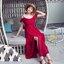 เดรสแฟชั่น เดรสผ้าชีฟองเกาหลี เนื้อจะหนากว่าชีฟองปกติ มีน้ำหนักทิ้งตัวสวย thumbnail 16