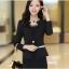 Pre เสื้อสูทผู้หญิง สูทบาง ฝีมือตัดเย็บระดับ High -end เสื้อผ้าแฟชั่นสไตล์เกาหลี แขนยาว สีดำ thumbnail 1