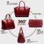 (Pre-order) กระเป๋าหนังแท้ กระเป๋าสะพายผู้หญิง หนังเรียบ แบบคลาสสิค สไตล์ยุโรป อเมริกา สีน้ำตาล thumbnail 8