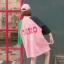 [พร้อมส่ง] เสื้อยืดตัวหลวมแนวสตรีทสไตล์เกาหลีสีชมพูหวานแขน 7 ส่วน thumbnail 6