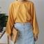 [พร้อมส่ง] เสื้อแขนค้างคาวคอกลม มีสีเหลือง/ขาว thumbnail 11