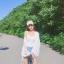 [Preorder] เสื้อคลุมแขนยาวผ้าชีฟองกันแดดสีขาวมีเชือกถักที่แขน thumbnail 10
