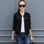(พร้อมส่ง) เสื้อแจ็คเก็ตสีคลาสสิคสไตล์เกาหลี มีสีขาว/ดำ thumbnail 1