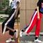 [Preorder] กางเกงขายาวมีซิปผ่าเปิดข้างโชว์ขา มีสีดำ/แดง thumbnail 1