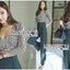 ชุดเซทแฟชั่น เซ็ตเสื้อแขนยาวพิมพ์ลายพร้อมกางเกงขายาวสีดำ thumbnail 2