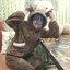 [พร้อมส่ง] ชุดนอนเสื้อขนสัตว์มีฮูดหมี+กางเกง มีสีน้ำตาล/ครีม thumbnail 6