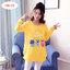 เสื้อแฟชั่นตัวยาว พิมพ์ลายแมวEnjoy Summer สีเหลืองแขนยาว ผ้านิ่มมาก thumbnail 1