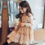 ชุดเดรสเด็กหญิง ชุดออกงานเด็กสีน้ำตาล PinkIdeal thumbnail 4