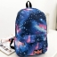 [พร้อมส่ง] กระเป๋าเป้ลายกาแล็คซี่ สีน้ำเงิน thumbnail 1