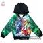 """ฮ """"( S-M-L-XL ) เสื้อแจ็คเก็ต เสื้อกันหนาว เด็กผู้ชาย สกรีนลายเกราะ Super Hero - The Avengers สีเขียว รูดซิป มีหมวก(ฮู้ด)สีดำ ใส่คลุมกันหนาว กันแดด สุดเท่ห์ ใส่สบาย ลิขสิทธิ์แท้ (ไซส์ S-M-L-XL ) thumbnail 1"""
