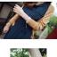 ชุดเดรสแฟชั่นผ้าชีฟองนิ่มพริ้วๆ มีสายผูกเอว กระดุมสีทองสีน้ำเงิน *มีภาพงานขายจริง thumbnail 3