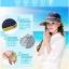 Pre-order หมวกแฟชั่น หมวกแก็ปปีกกว้าง หมวกฤดูร้อน กันแดด กันแสงยูวี สีเบจแต่งด้วยผ้าพิมพ์ลายดอกไม้ thumbnail 7