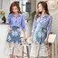 ชุดเซทแฟชั่น งานเซ็ทเสื้อเชิ๊ทเนื้อผ้าคอตตอลสีฟ้าลายริ้วโทนสีเรียบหรูสไตล์ชิค thumbnail 9
