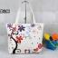 กระเป๋าผ้าแฟชั่น สารพัดประโยชน์ มีซิป ด้านในบุผ้าอย่างดี ลายดอกไม้ thumbnail 1