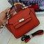 fashion bag style valentino กระเป๋าหนังPUทรงเก๋ ดีไซร์เรียบๆหรูๆ มาพร้อมผ้าพันสายจับ thumbnail 1