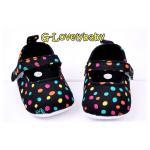 รองเท้าเด็ก Paul Frank Monkey Polka Dot Pre-walker Baby Shoes รองเท้าเด็ก รองเท้าเด็กผู้หญิงน่ารัก รองเท้าเด็กหญิงวัยหัดเดิน Size 13 ( 9-12 M)
