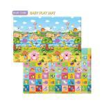 Baby Care Baby Play Mat แผ่นยางรองคลาน ยางพาราเเท้ Size L แผ่นใหญ่ made in korea 210 x 140 cm สดใส ไร้กลิ่น ไม่ลอกเป็นขุย นุ่ม พับ งอ หัก ได้ ไม่ยับไม่เป็นรอบ ไม่ยุบตัว