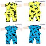เสื้อผ้าเด็ก ชุดบอดี้สูทเด็กทารก ชุดบอดี้สูทเด็กอ่อน ชุดบอดี้สูทเด็กแขนยาว + หมวกเด็ก แบรนด์เนม Candy Poem size 70cm (6-12เดือน)